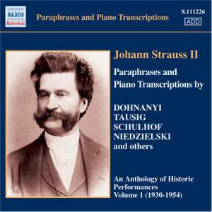 Johann Strauss II - Paraphrases and Piano Transcriptions