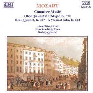 Mozart: Oboe Quartet in F major, K370, etc.