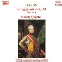 Haydn: String Quartets Op. 54 Nos. 1-3