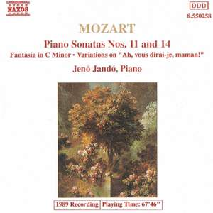 Mozart: Fantasia, Piano Sonatas Nos. 11 & 14 and Variations on 'Ah, vous dirai-je, Maman' Product Image