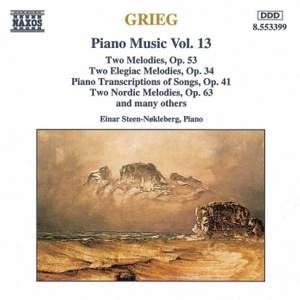 Grieg: Piano Music. Vol. 13
