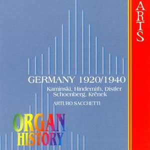 Organ History - Germany 1920-1940