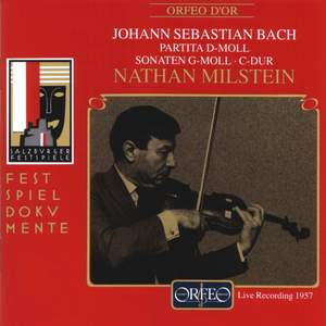 Bach, J S: Partita for solo violin No. 2 in D minor, BWV1004, etc.