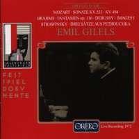Mozart: Piano Sonata No. 15, Brahms: Fantasies, Debussy: Images