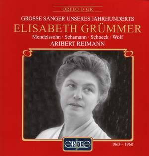 Elisabeth Grümmer - Lieder