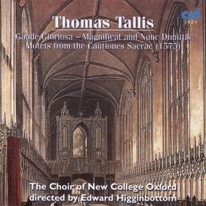 Tallis: Gaude gloriosa, Magnificat and Nunc dimittis, and Motets from Cantiones Sacrae (1575)
