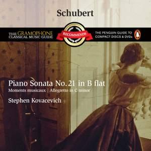 Schubert: Piano Sonata No. 21 in B flat major