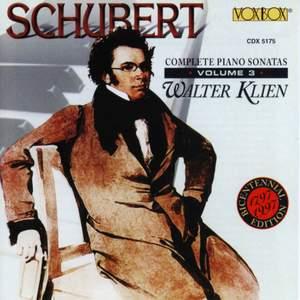 Schubert - Complete Piano Sonatas, Vol. 3 Product Image