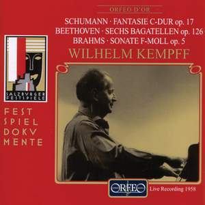 Schumann: Fantasie in C major, Op. 17, etc.