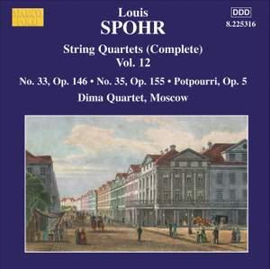 Louis Spohr: String Quartets, Volume 12 Product Image