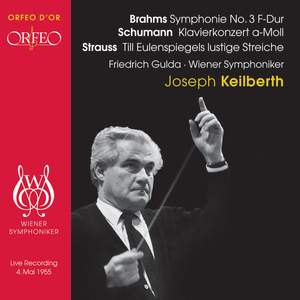 Brahms: Symphony No. 3 in F major, Op. 90, etc. Product Image