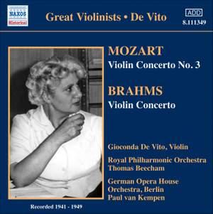 Gioconda De Vito plays Mozart & Brahms