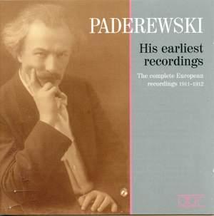 Paderewski - His earliest Recordings