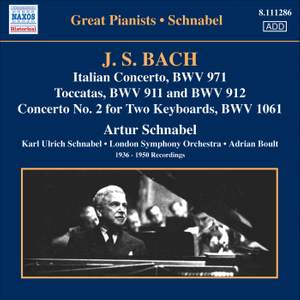 Artur Schnabel plays Bach Product Image