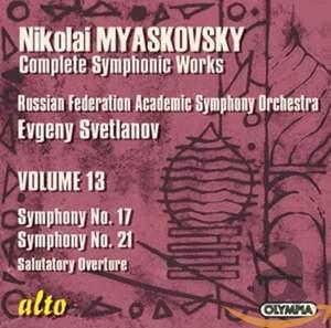 Myaskovsky - Complete Symphonic Works Vol. 13