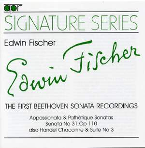 Edwin Fischer - The First Beethoven Sonata Recordings