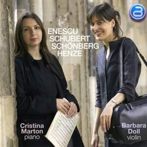 Enescu, Schubert, Schoenberg, Henze