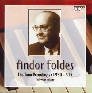 Andor Foldes The Tono Recordings (1950-51)