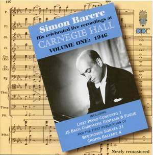 Simon Barere - Live Recordings at Carnegie Hall (Volume 1)