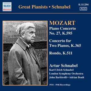 Artur Schnabel plays Mozart Product Image