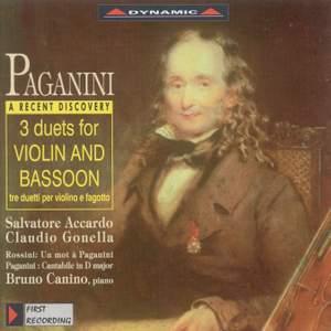 Paganini: Works For Violin And Bassoon