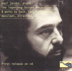 Paul Jacobs: Legendary Busoni Recordings