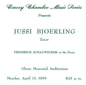 Jussi Bjorling: Atlanta Recital April 1959