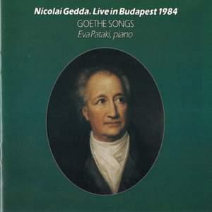 Gedda, Nicolai: Live in Budapest 1984 - Goethe Songs Product Image