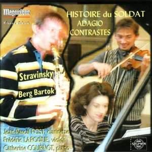 Stravinsky/Berg/Bartok: Pieces for clarinet/vilin/piano
