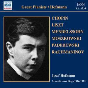 Josef Hofmann - Acoustic recordings (1916-1923)