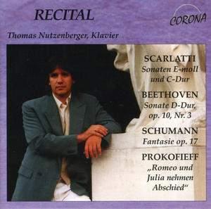 Thomas Nutzenberger plays Scarlatti, Beethoven, Schumann and Prokofiev
