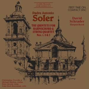 Soler: Quintets for harpsichord and string quartet Nos. 1, 2 and 3 Product Image