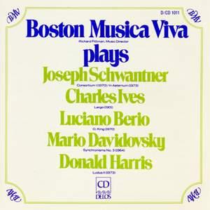 Boston Musica Viva plays Schwantner/Ives/Berio/Davidovsky/Harris