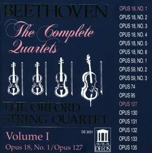 Beethoven: Complete String Quartets (Vol. I) Product Image