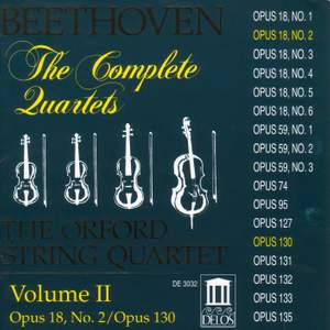 Beethoven: Complete String Quartets (Vol. II) Product Image