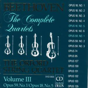 Beethoven: Complete String Quartets (Vol. III) Product Image