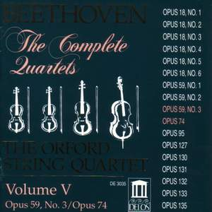 Beethoven: Complete String Quartets (Vol. V) Product Image