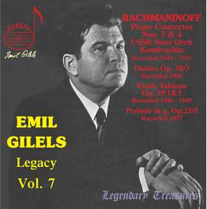 Emil Gilels Legacy Vol. 7 Product Image