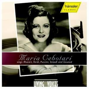 Maria Cebotari: Sings Mozart, Verdi & Puccini