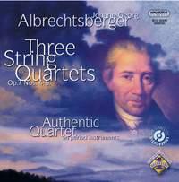 Albrechtsberger: Three String Quartets