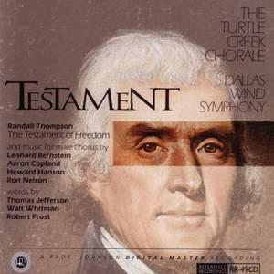 Testament - American Music for Male Chorus