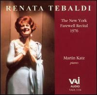 Renata Tebaldi: New York Farewell Recital (1976)