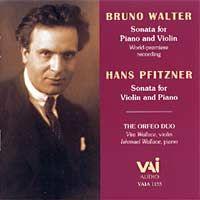 Bruno Walter, Hans Pfitzner: Violin Sonatas