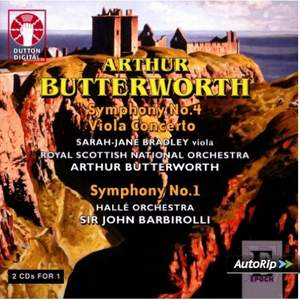 Butterworth - Symphony No. 4 & Viola Concerto