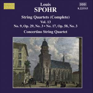 Louis Spohr: String Quartets, Volume 13