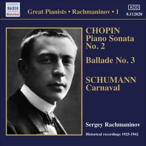 Rachmaninov - Solo Piano Recordings Volume 1 Product Image