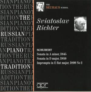 Sviatoslav Richter plays Schubert - The Neuhaus School