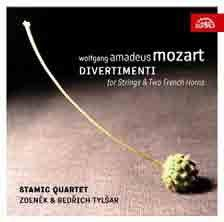 Mozart: Divertimenti for String Quartet and Two Horns