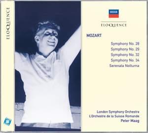 Mozart: Symphonies Nos. 28, 29, 32, 34 & Serenade No. 6