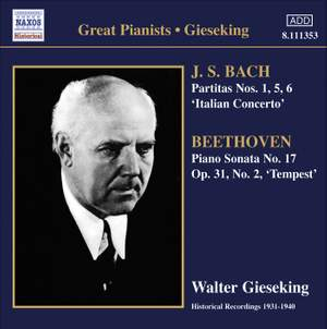 Walter Gieseking plays Bach & Beethoven